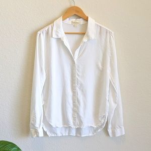 Anthropologie Cloth & Stone Button Down Blouse Med